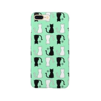 ねこ(グリーン) Smartphone cases