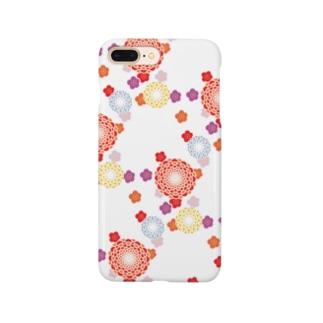 和柄(白) Smartphone cases