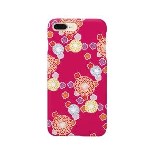 和柄(赤) Smartphone cases