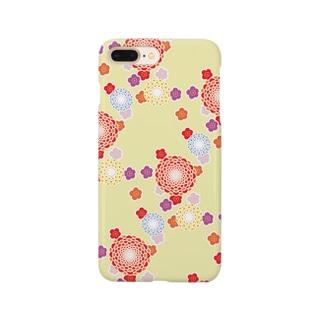 和柄(クリーム) Smartphone cases