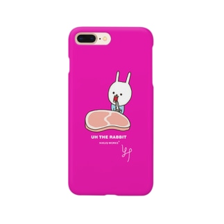 ウサギのウー生肉じゅるる[ultra pink] Smartphone cases