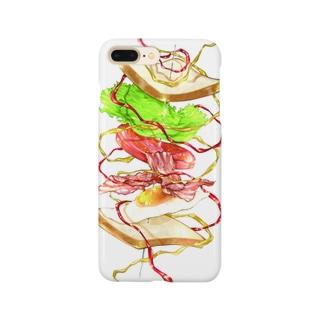 躍動するサンドイッチのスマホケース Smartphone cases