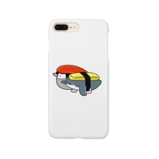 へいお待ち!お寿司なペンギンセット スマートフォンケース