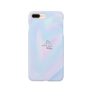 パステルな恐竜【ラブラブ】 Smartphone cases