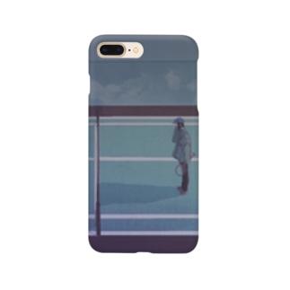 テニスコートより Smartphone cases