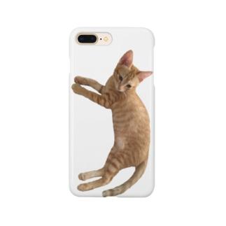 犬化してるニャンコ、明[猫] Smartphone cases