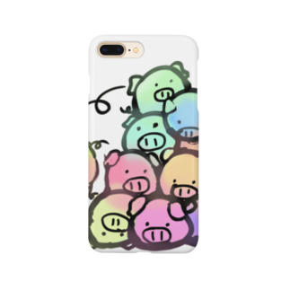 P-PiGの十匹豚色 Smartphone cases
