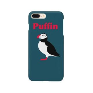 スマホケース  パフィン紺 Smartphone cases