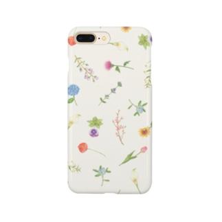 フラワーペーパー Smartphone cases