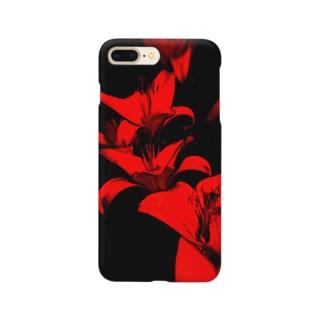 フラワー・イン・レッド Smartphone cases