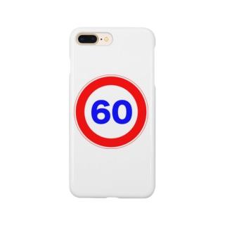 街中標識シリーズ 時速ロゴ Smartphone cases