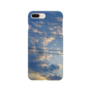 空と電線と Smartphone cases