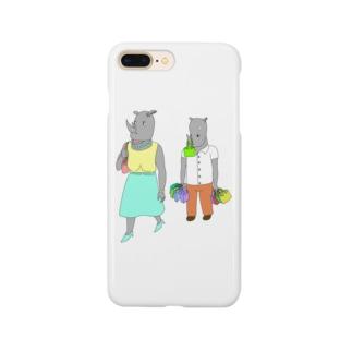 荷物を持たされるサイ Smartphone cases