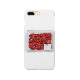 牛肉肩切落し Smartphone cases
