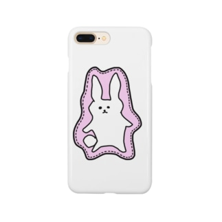 Animaletc.のワッペン風うさぎさん Smartphone cases