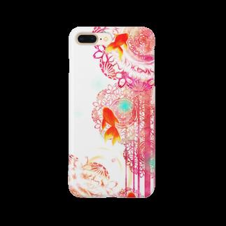 NEELAの夏空金魚 Smartphone cases