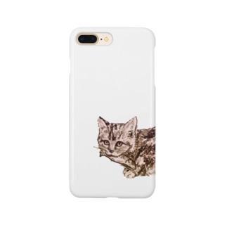 お魚くわえた野良猫 Smartphone cases