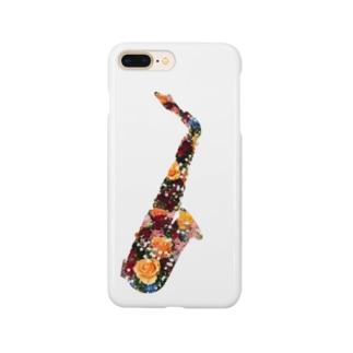 flower saxophone Smartphone cases