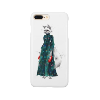 キツネの貴婦人 Smartphone cases