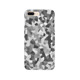 白黒の結晶モザイク Smartphone cases