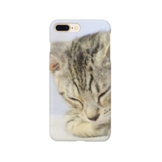 おひるね子猫(マンチカン) Smartphone cases