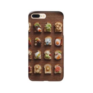 トーストオールスターズ(木目) Smartphone cases
