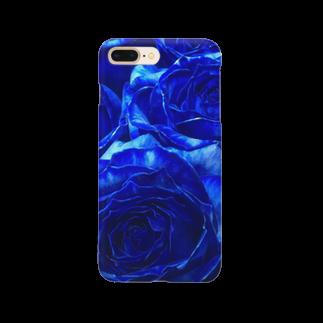FŁĘÄ/F£€@のブルーローズ Smartphone cases