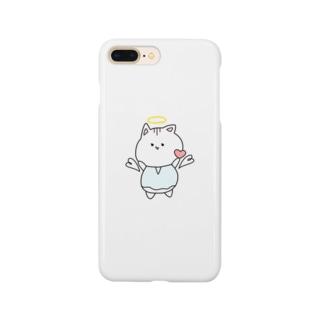 天使ぬこさん Smartphone cases