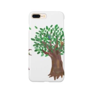 ことわざシリーズ「寄らば大樹の陰」 Smartphone cases