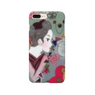 桜と女の子 Smartphone cases