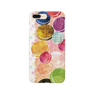 マカロンと水玉 Smartphone cases