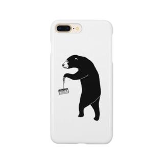 愉快なマレーグマ 4 クマ動物イラスト スマートフォンケース