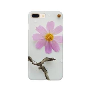 花と実と水滴と石 Smartphone cases