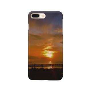 ベトナム リゾート地での夕焼け Smartphone cases