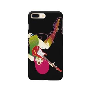 ギターを持つ小悪魔 Smartphone cases