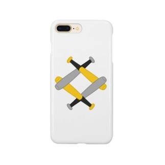 無い家紋-互い金属バット菱-その2 Smartphone cases