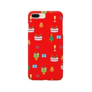 クリスマス(赤) Smartphone cases