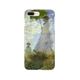 モネ「散歩、日傘をさす女性」 Smartphone cases