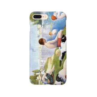 スーラ「アニエールの水浴」 Smartphone cases