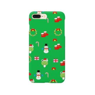 クリスマス(緑) Smartphone cases