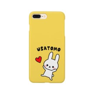 うさともスマホケース(ハート・イエロー) Smartphone cases