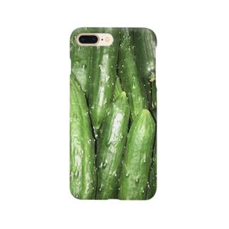 ノビ山本のみずみずキュウリ Smartphone cases