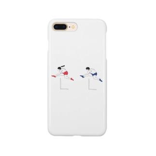 ハードル走男女 Smartphone cases