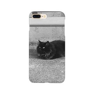 近所のくろねこ Smartphone cases