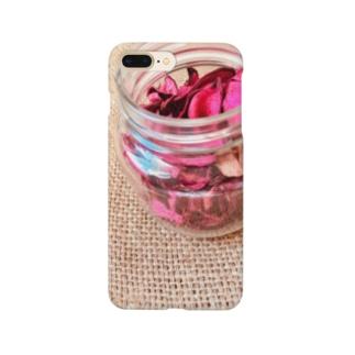 麻袋&赤い花2 Smartphone cases
