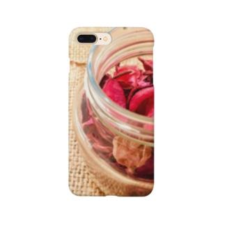 麻袋&赤い花3 Smartphone cases