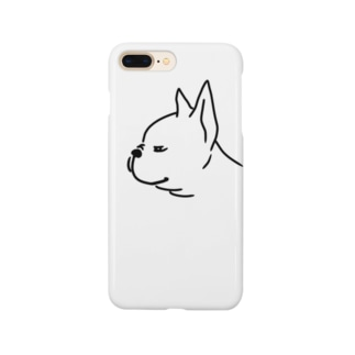 フレンチブルドッグ 横顔 Smartphone cases