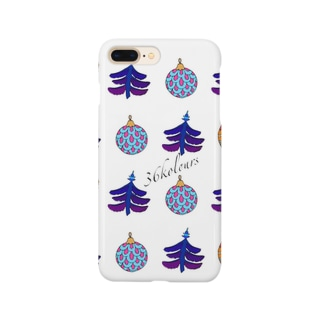 Christmas Ornaments (36kolours) ブルー Smartphone cases
