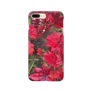 季節外れな紅葉 Smartphone cases