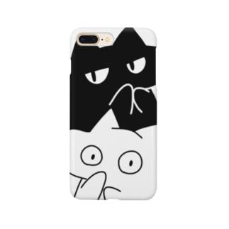 うさ男とねこ男のツーショット Smartphone cases